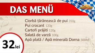 Das Menu - meniul zilei 18 lei